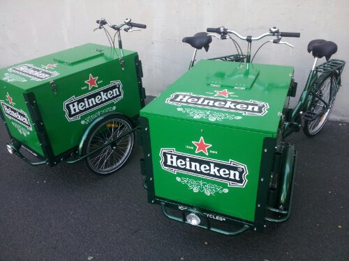 Icicle Tricycle Beer Marketing Bikes